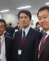 木田副会長、長坂会員、山本幹事(懇親会にて)
